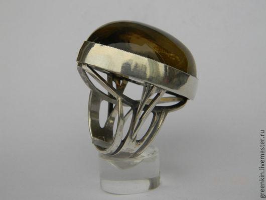 Кольца ручной работы. Ярмарка Мастеров - ручная работа. Купить кольцо с дымчатым кварцем. Handmade. Серебряный, авторская ручная работа