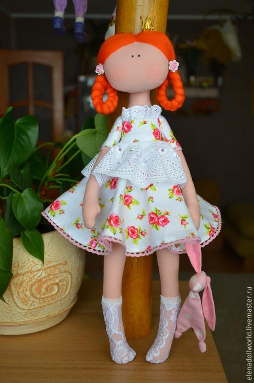 Куклы тыквоголовки ручной работы. Ярмарка Мастеров - ручная работа. Купить ,,ПрЫнцесска,,. Handmade. Белый, тыквоголовка, принцесса, кружево хлопок