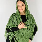Аксессуары handmade. Livemaster - original item Shawl Grassy greens crochet. Handmade.