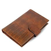 Сумки и аксессуары handmade. Livemaster - original item Purse with compartments for avtodokumentov leather sea snake. Handmade.