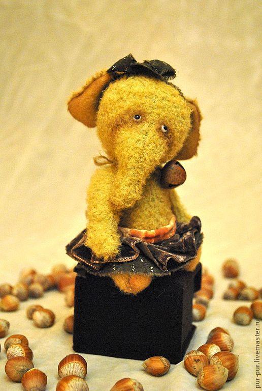 Мишки Тедди ручной работы. Ярмарка Мастеров - ручная работа. Купить Праня (Ореховое Пралине). Handmade. Коричневый, слоны