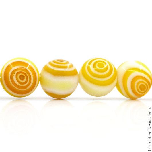 Для украшений ручной работы. Ярмарка Мастеров - ручная работа. Купить Бусины из агата желтого (имитация) - 10 мм.. Handmade.