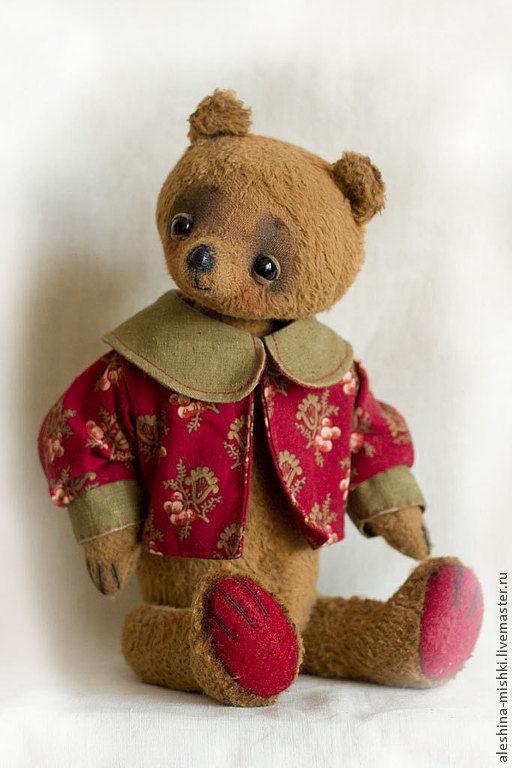 Мишки Тедди ручной работы. Ярмарка Мастеров - ручная работа. Купить Бертрам. Handmade. Коричневый, мишка тедди, антик