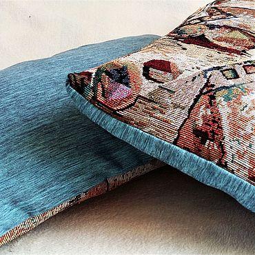 Текстиль ручной работы. Ярмарка Мастеров - ручная работа КОМПЛЕКТ интерьерных наволочек Абстракция,гобелен, подушки декоративны. Handmade.