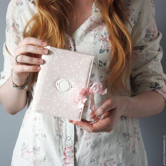 """Блокноты ручной работы. Ярмарка Мастеров - ручная работа. Купить Блокнот """"Нежность"""". Handmade. Блокнот ручной работы, подарок, хлопок"""