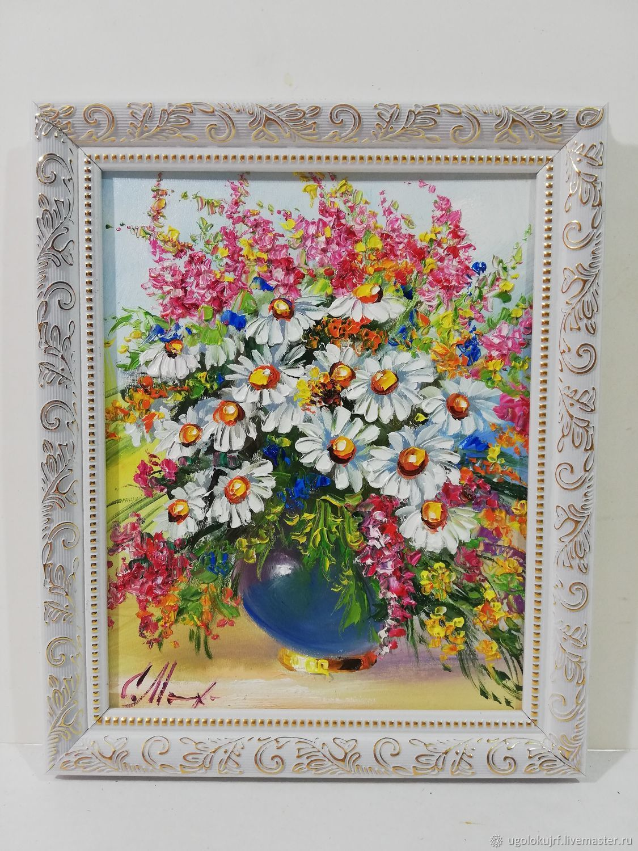 Oil painting hardboard framed 30h25cm, Pictures, Maloyaroslavets,  Фото №1