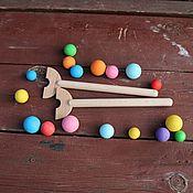 Мягкие игрушки ручной работы. Ярмарка Мастеров - ручная работа Симультанные палочки. Деревянные Монтессори пособия. Handmade.