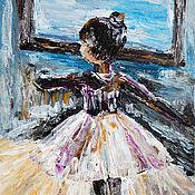 Картины и панно ручной работы. Ярмарка Мастеров - ручная работа Балерина. Картина акрилом. Handmade.