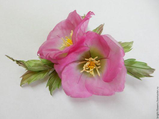 """Цветы ручной работы. Ярмарка Мастеров - ручная работа. Купить Брошь """"Шиповник"""". Handmade. Цветок из ткани, купить цветок"""