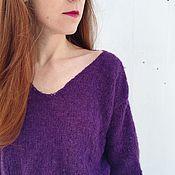 Одежда ручной работы. Ярмарка Мастеров - ручная работа Фиолетовый НЕдлинный. Handmade.