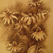 Картины и панно ручной работы. Ярмарка Мастеров - ручная работа Цветы в сепии. Handmade.