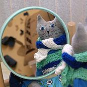 Куклы и игрушки ручной работы. Ярмарка Мастеров - ручная работа Игрушка кошка с одеждой. Handmade.