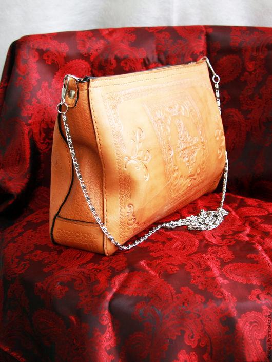 Женские сумки ручной работы. Ярмарка Мастеров - ручная работа. Купить Клатч кожаный тиснение. Handmade. Клатч, сумка из кожи