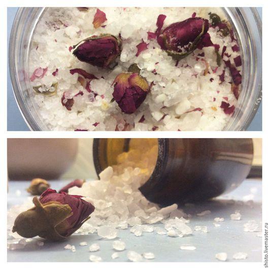 Пена, молочко для ванны ручной работы. Ярмарка Мастеров - ручная работа. Купить Античная Роза Антистресс-соль для ванны. Handmade.
