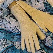 Аксессуары ручной работы. Ярмарка Мастеров - ручная работа Перчатки вязаные белые. Handmade.
