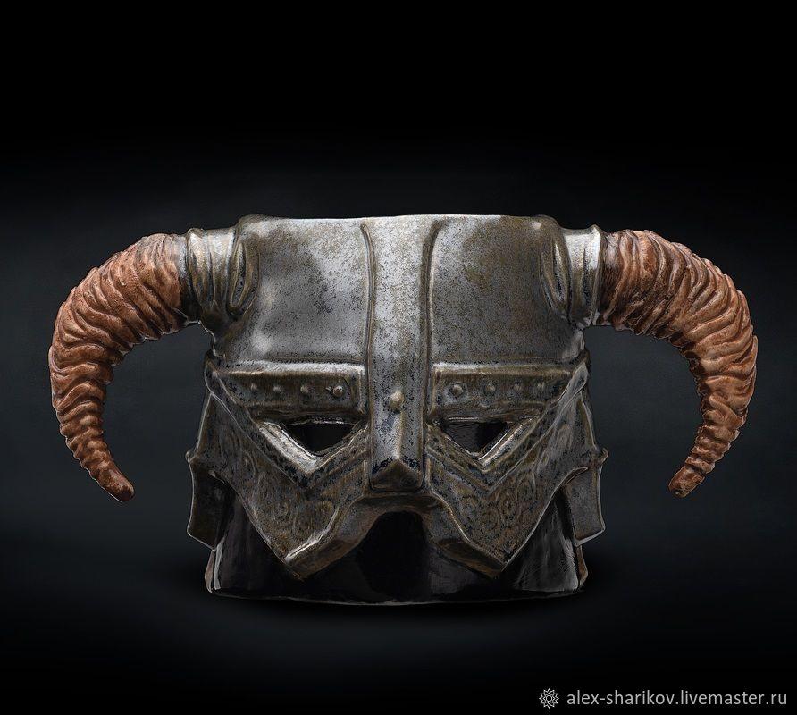 Кружка Скайрим (шлем Довакина) Dovahkiin Iron Helmet Mug, Кружки, Санкт-Петербург,  Фото №1