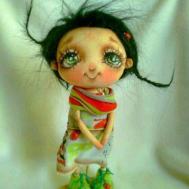"""Куклы и игрушки ручной работы. Ярмарка Мастеров - ручная работа """"Глазки зеленые- отзвук лета"""". Handmade."""