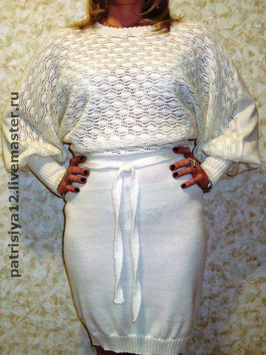 """Платья ручной работы. Ярмарка Мастеров - ручная работа. Купить платье """"Лебедь белая"""". Handmade. Полушерсть"""