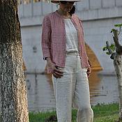 Топы ручной работы. Ярмарка Мастеров - ручная работа Розовая льняная рубашка. Handmade.