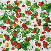 Материалы для творчества handmade. Livemaster - original item 16pcs napkin decoupage garden strawberry print. Handmade.