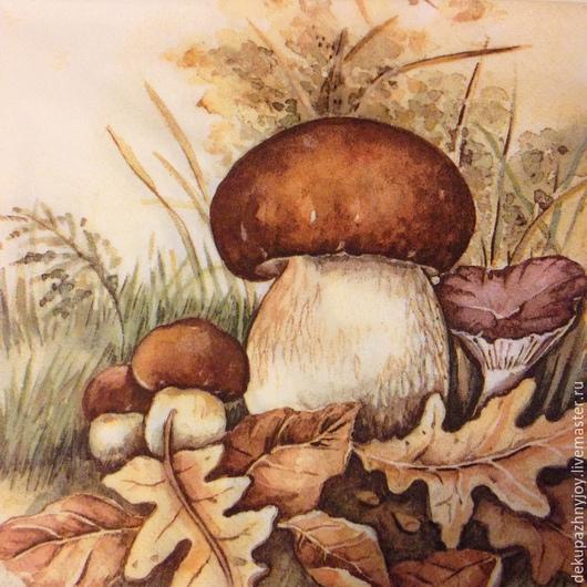 Белый гриб- боровик - салфетка для декупажа Декупажная радость