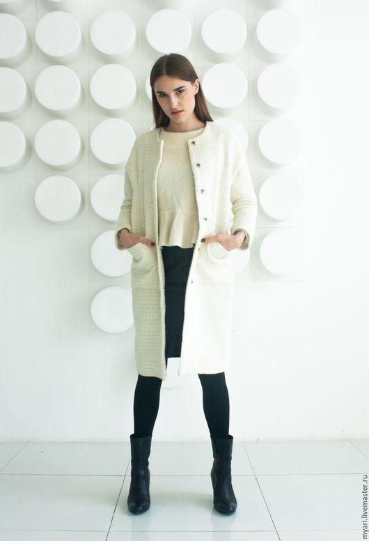 """Верхняя одежда ручной работы. Ярмарка Мастеров - ручная работа. Купить Пальто """"Шанель"""". Handmade. Белый, пальто демисезонное"""