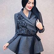 Одежда handmade. Livemaster - original item Elegant jacket with embroidery
