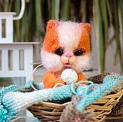 Куклы и игрушки ручной работы. Ярмарка Мастеров - ручная работа Кот из шерсти Мурлыка. Handmade.