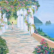 Картины и панно ручной работы. Ярмарка Мастеров - ручная работа Средиземноморский пейзаж. Handmade.