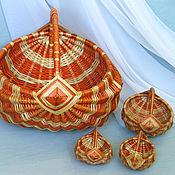Для дома и интерьера ручной работы. Ярмарка Мастеров - ручная работа Корзина белорусская. Handmade.