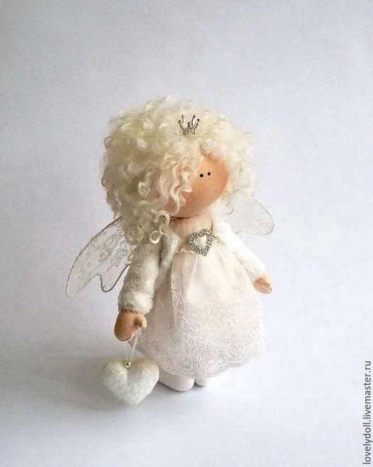 Коллекционные куклы ручной работы. Ярмарка Мастеров - ручная работа. Купить Ангел. Handmade. Белый, подарок на день валентина