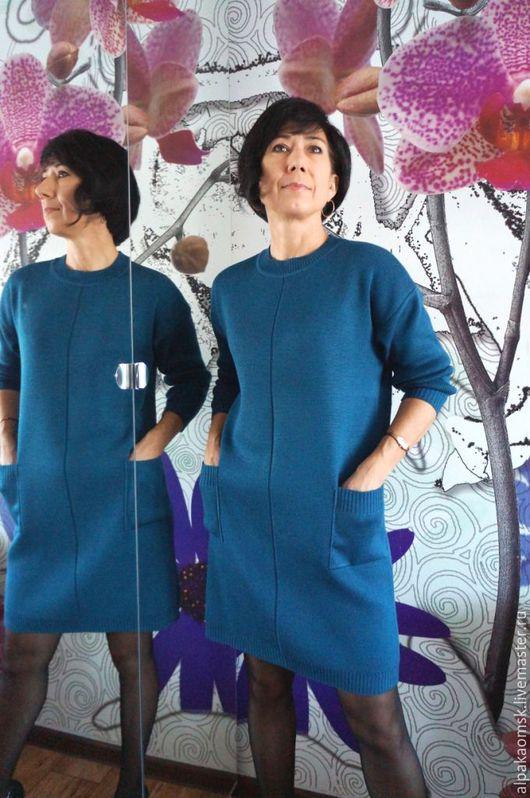Платья ручной работы. Ярмарка Мастеров - ручная работа. Купить платье- мешок трикотажное. Handmade. Платье вязаное, полушерсть
