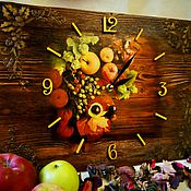 Для дома и интерьера handmade. Livemaster - original item Wall clock Gifts nature offers brushed. Handmade.