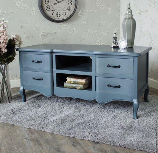 Мебель ручной работы. Ярмарка Мастеров - ручная работа. Купить Тумбочка TV blue. Handmade. Бирюзовый, мебель на заказ