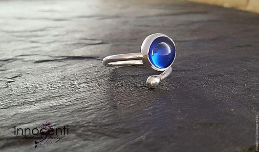 """Кольца ручной работы. Ярмарка Мастеров - ручная работа. Купить Кольцо,синяя шпинель """"Море"""".. Handmade. Синий, кольцо с камнем"""