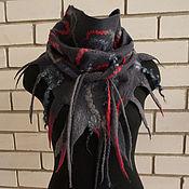 Аксессуары ручной работы. Ярмарка Мастеров - ручная работа Бактус( шарф-косынка) Красное и Черное. Handmade.
