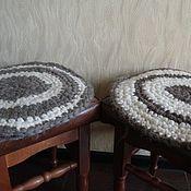 Для дома и интерьера ручной работы. Ярмарка Мастеров - ручная работа Сидушки-накидки из натуральной шерсти. Handmade.