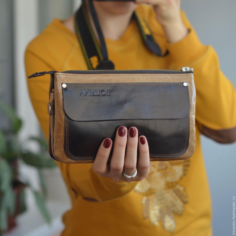 Кожаная сумка на цепочке, кожаный клатч на цепочке, кожаная сумка  коричневая, кожаная сумка ... 67e23e76e3e