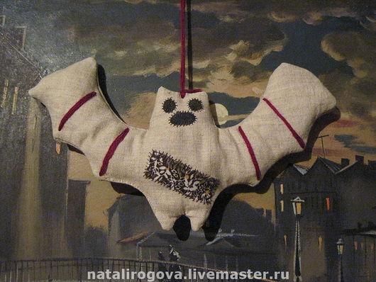 """Примитивная игрушка """"Летучая мышь"""" на веревочке. Наталия Рогова"""