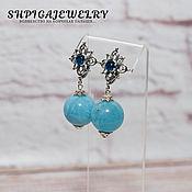 Украшения handmade. Livemaster - original item Silver earrings with aquamarine