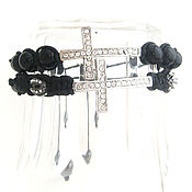 Украшения handmade. Livemaster - original item Mystical Shamballa Bracelet with cross. Handmade.