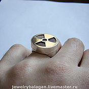 Украшения handmade. Livemaster - original item Caution Radiation! - a ring with a secret. Handmade.