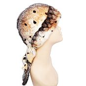 Аксессуары handmade. Livemaster - original item Cap made of natural mink fur, decorated with tails. Handmade.