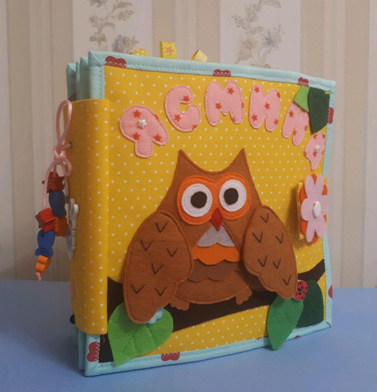 Развивающие игрушки ручной работы. Ярмарка Мастеров - ручная работа. Купить Книжка из фетра и ткани. Handmade. Развивающие игрушки, книжка