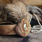 Украшения handmade. Livemaster - original item Headband / brooch Gatsby : beading. Handmade.