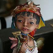 Куклы и игрушки ручной работы. Ярмарка Мастеров - ручная работа Кукла Цветок Бирмы. Handmade.