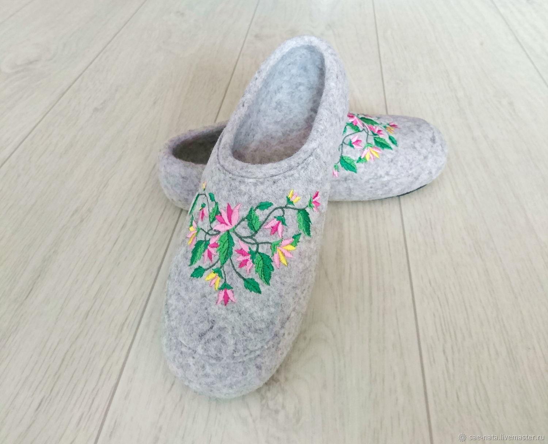 Felted women's Slippers, Slippers, Leninsk-Kuznetsky,  Фото №1
