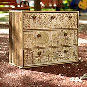 "Для дома и интерьера handmade. Livemaster - original item Commode ""Japanese garden"" 42x32x18sm. Handmade."