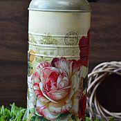 """Для дома и интерьера ручной работы. Ярмарка Мастеров - ручная работа Бидон """"Flowers"""". Handmade."""
