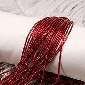 Канитель ручной работы. Ярмарка Мастеров - ручная работа Канитель трунцал 4-х гранный красный, 1,5 мм. Handmade.
